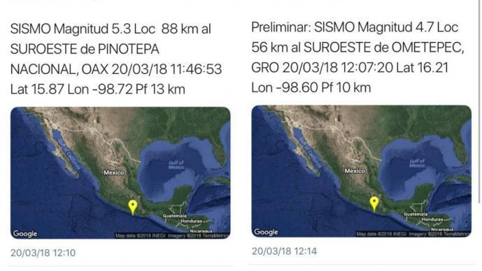 Reportan sismo de 5.5 en Oaxaca