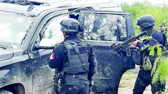 Policía de Reynosa abate a cinco individuos tras persecución y balacera