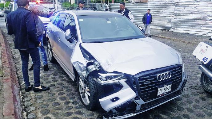 Presidente de PRI Morelos choca automóvil en estado de ebriedad