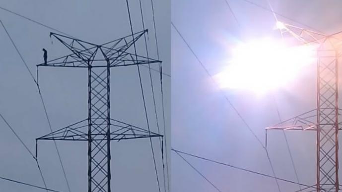 Joven muere electrocutado en torre de alta tensión (IMÁGENES FUERTES)