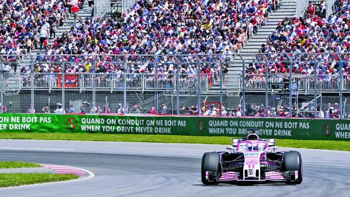 Sergio Pérez tuvo una difícil carrera y concluyó en el lugar 14 en el Gran Premio de Canadá séptima fecha de la temporada 2018 de la Fórmula 1