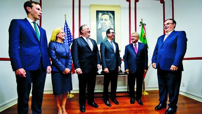 Finaliza reunión de AMLO con funcionarios de EUA