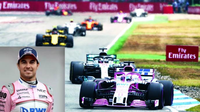 ´Checo´ Pérez dispuesto a conseguir puntos en Gran Premio de Alemania