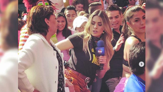 Mujer encara a Galilea Montijo; le pide irse de México