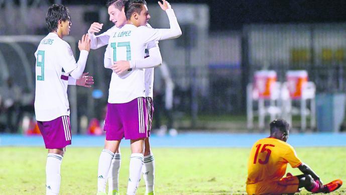 México Sub-20 golea 8-0 y sigue como líder