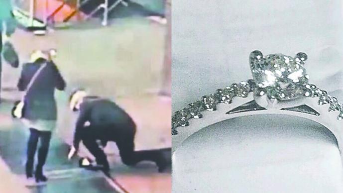 Policía de Nueva York busca a pareja que perdió anillo de compromiso