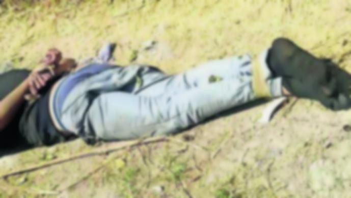 Cadáver hombre maniatado baleado Yautepec