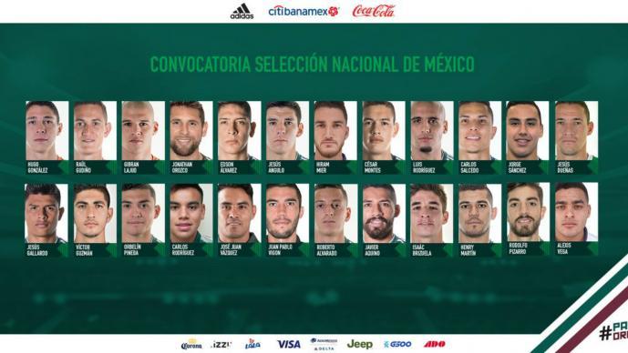El Tata Martino primera convocatoria selección mexicana Carlos Rodríguez Juan Pablo Vigón Alexis Vega Jorge Sánchez