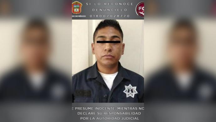 detenido policía extorsión autoridades golpea robo automóvil Naucalpan