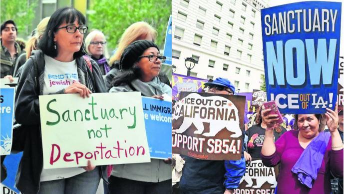 declaran ciudad santuario migrantes Los Ángeles California Estados Unidos