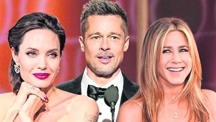 Angelina Jolie Jennifer Aniston Brad Pitt Encuentro Fiesta