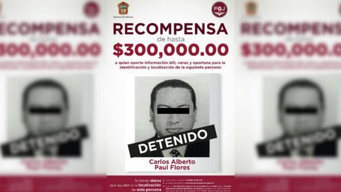 Paul Flores detenido Querétaro más buscados Edoméx