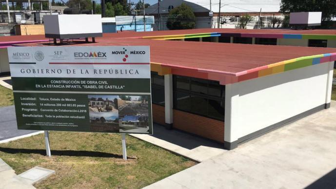 kinder listo obras inauguración reconstrucción daños sismo 19-S Toluca