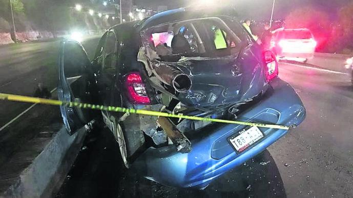 Muere Hombre Choque Cabeza destrozada CDMX