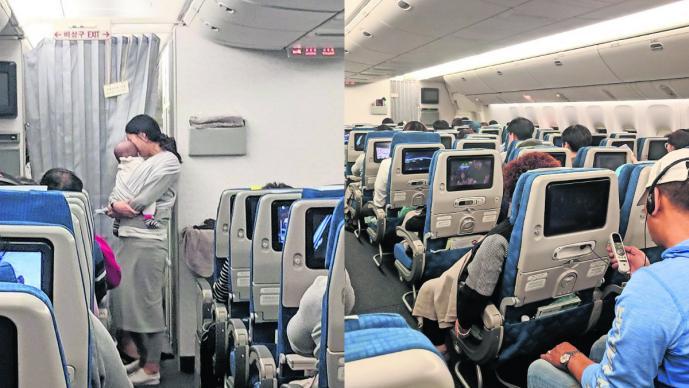 Tapones Oídos Llanto de bebe Vuelo Corea del Sur Estados Unidos