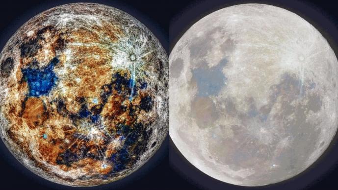 Astrofotógrafo revela por primare vez los colores de la Luna