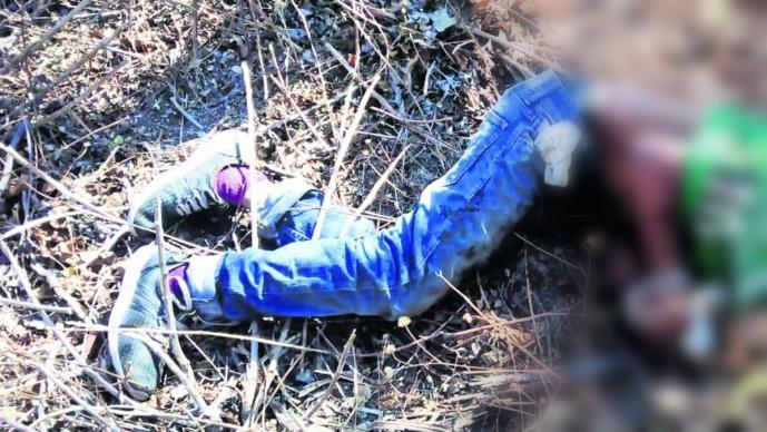 Cadáver hombre maniatado amordazado Morelos Emiliano Zapata