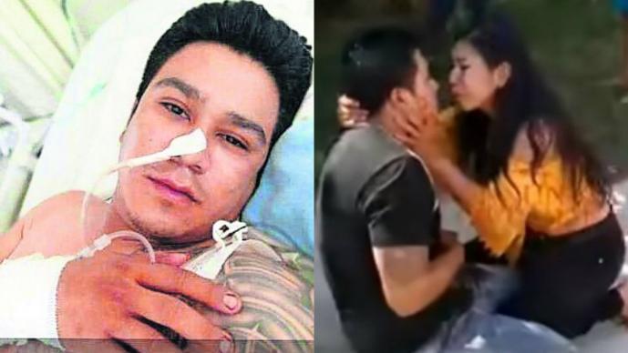 VIDEO Mujer apuñala a novio en motel y luego pide perdón