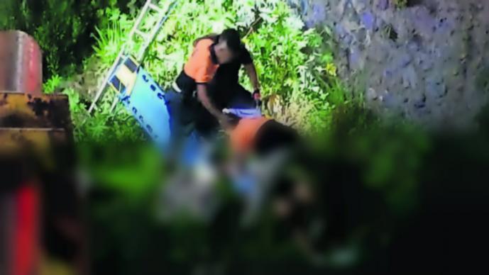 Mujer motociclista cae barranca Yautepec