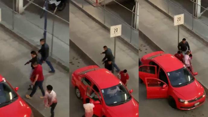 Graban cuatro delincuentes robar vehículo extreman violencia Tultitlán