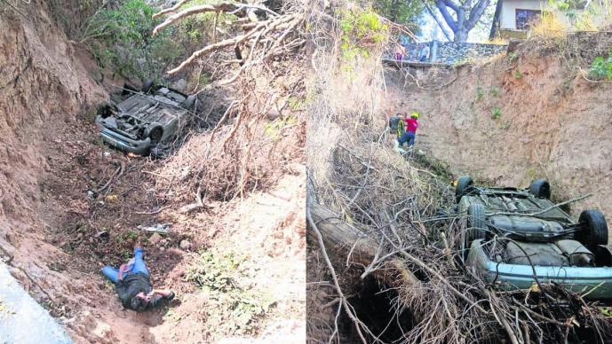 Hombre ebrio Cae a barran Morelos
