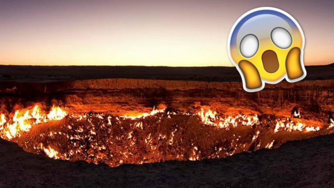 Dron capta impactantes imágenes del cráter conocido como