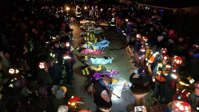 atropellados muertos accidente guatemala