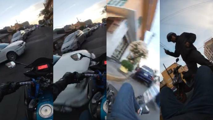 motociclista graba atropellado neza edomex
