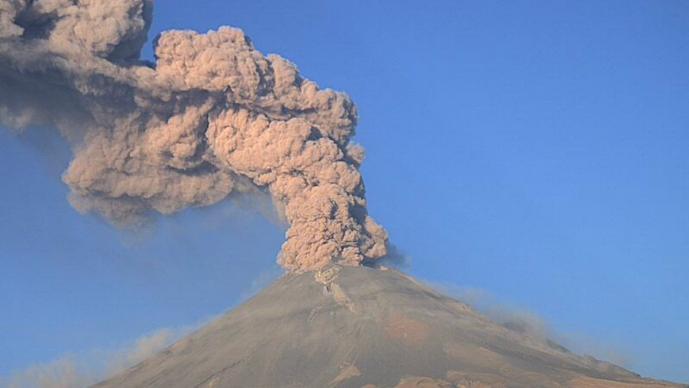 Zonas desalojo otra fase Popocatépetl
