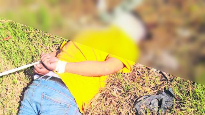 Hallan cadáver maniatado Tiro de gracia Terreno baldío Violencia Seguridad