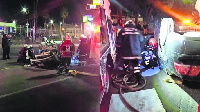 Exceso de velocidad Estado de ebriedad Auto volcado Toluca Cultura vial