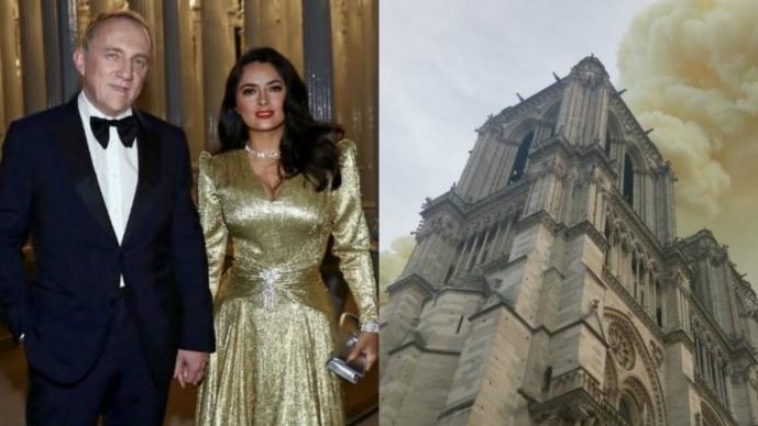 esposo de salma hayek dona millones de euros notre dame