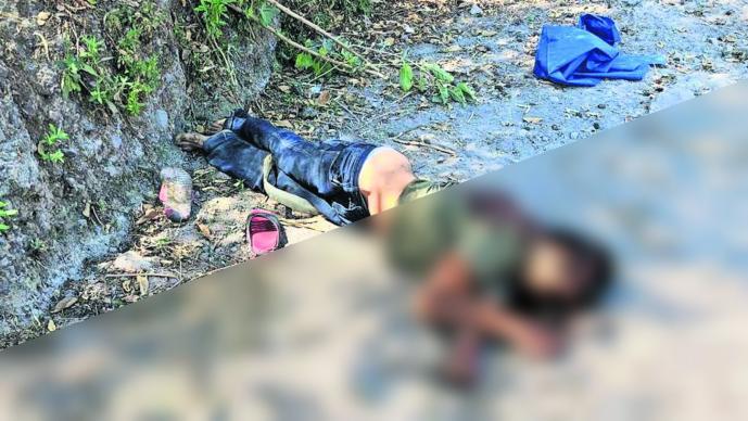 Hombre muerto Tiro de gracia Camino de terracería Morelos