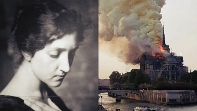 mexicana suicidó catedral notre dame paris francia incendio