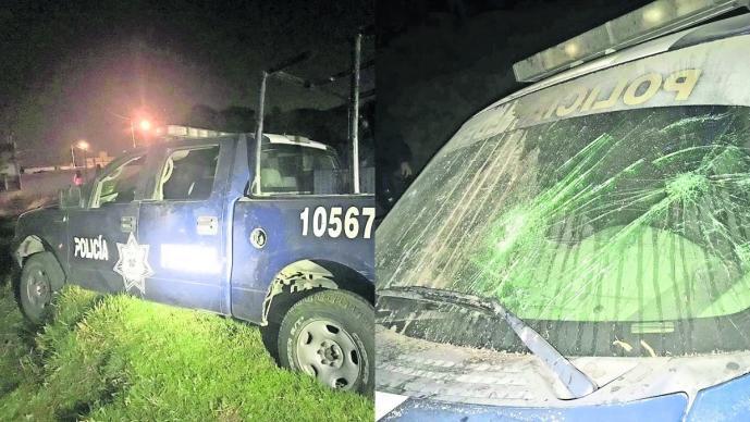 Turba enfurecida Retienen y vandalizan patrullan Culpan a policías Toluca Edoméx