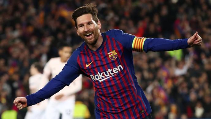 Messi condujo al Barcelona a semifinales en cuatro minutos