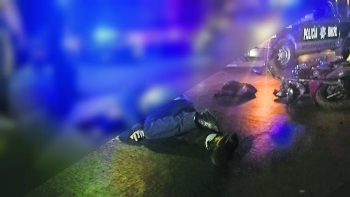 Motociclista muerto Exceso de velocidad Edoméx Nezahualcóyotl