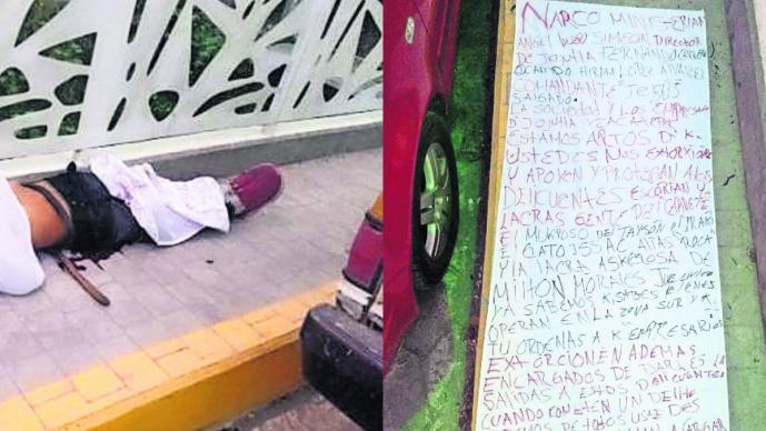 Dejan cadáver de un joven maniatado junto a narcomensaje en Jojutla