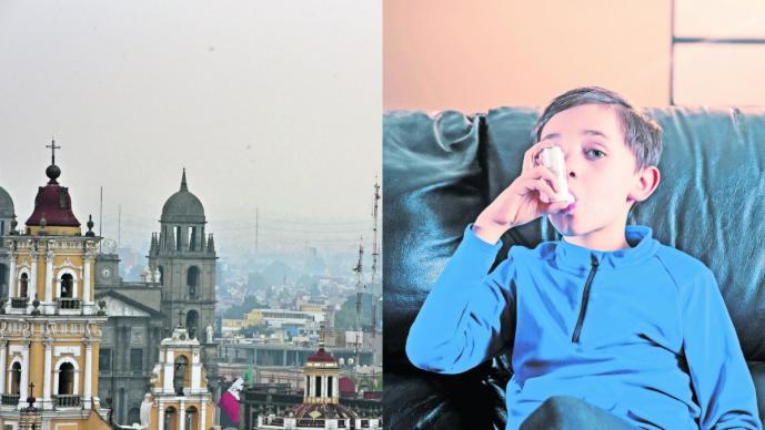 contingencia mala calidad aire contaminación males respiratorios niños afectados