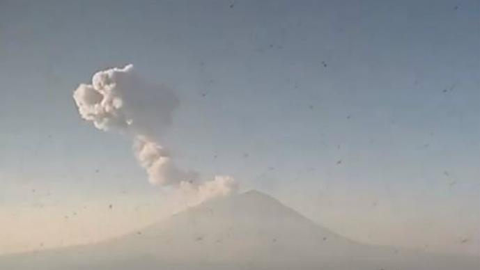 volcán Popocatépetl explosion alerta puebla