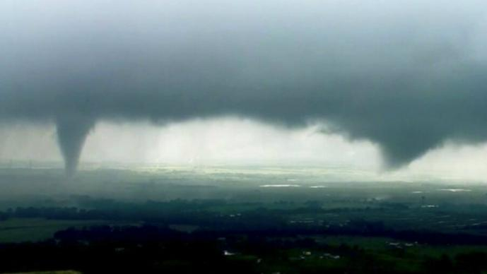 impresionantes imágenes tornado en Oklahoma