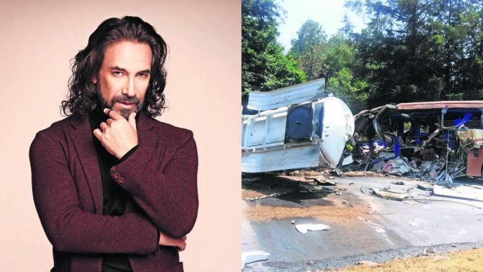 Bus de staff de Marco Antonio Solís chocó con camión de combustible