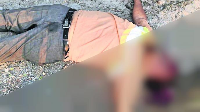 Hombre muerto Tiro en la cabeza Violencia Morelos