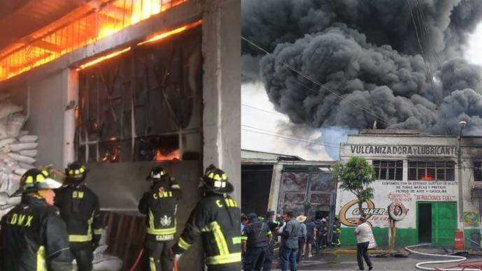 incendio bodega el chamizal ecatepec edomex
