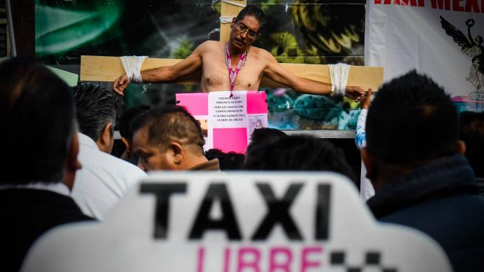 taxistas ciudad de mexico uber didi cabify
