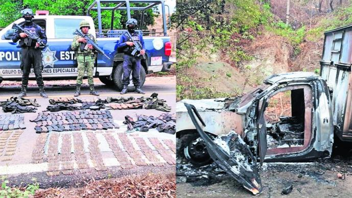 Detienen a pistoleros Arsenal de armas Tiroteo entre sicarios Guerrero