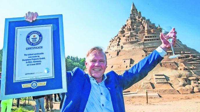 castillo de arena más grande del mundo libro de los récord guinness alemania