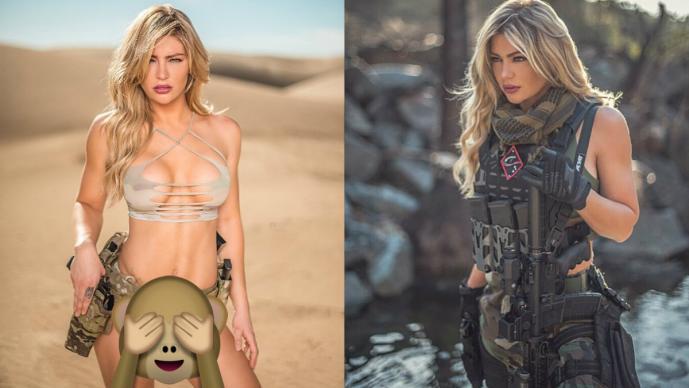 Shannon Ihrke Soldado sexy Sesión de fotos Desierto California