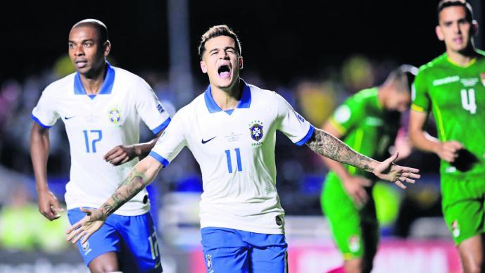 Brasil sella su primer triunfo en la Copa Oro 2019 al derrotar a Bolivia
