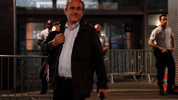 Fue liberado Michel Platini